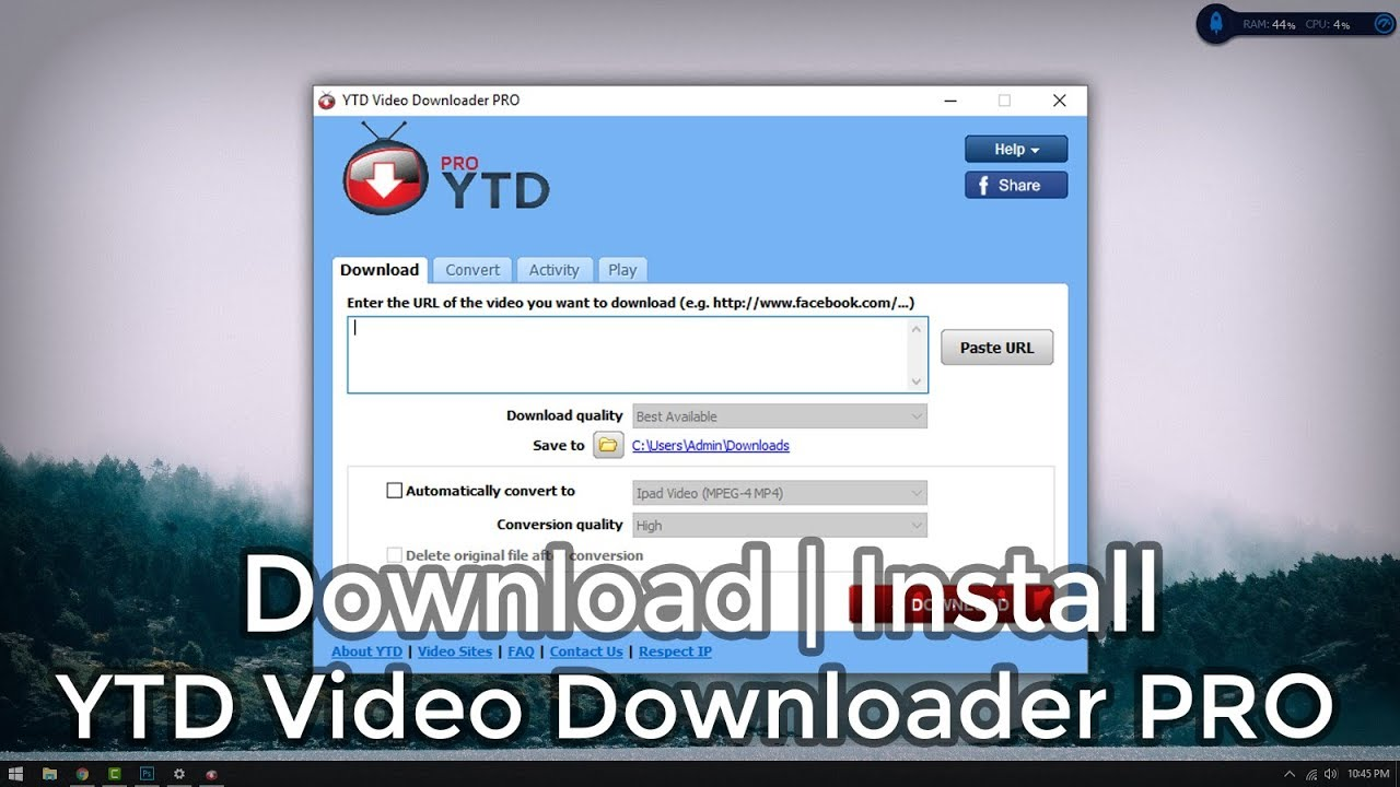 YTD Video Downloader Pro 5.9.18.2 Crack + Keygen Full Download 2020