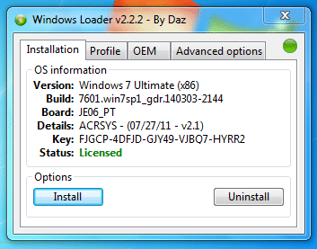 Windows 7 Loader Activator for 32 & 64 bit With Activation Key Free Download