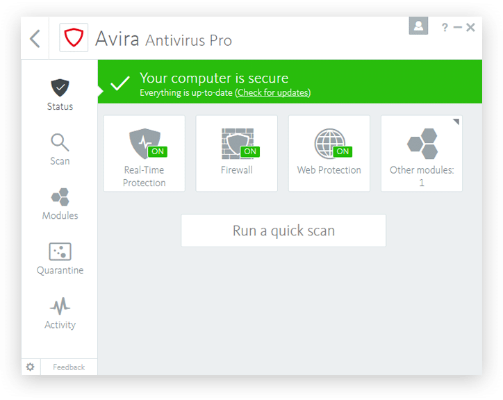 Avira Antivirus Pro 2019 Crack + Serial Key Free Download