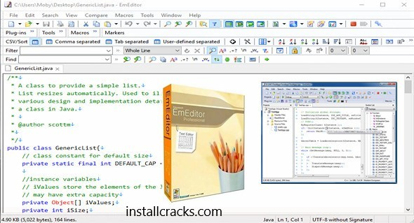 EmEditor Professional 18.0.7 Crack + License Key Full Free Download