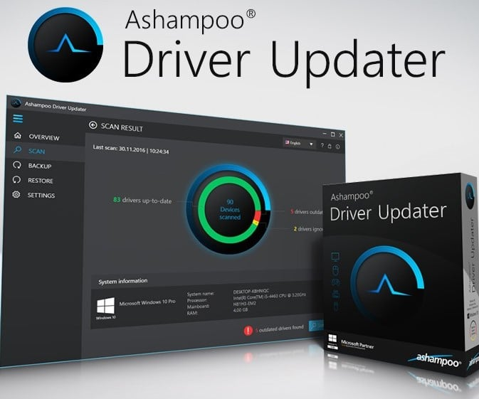 Ashampoo Driver Updater v1.2.1.53382 Crack + Serial Key Download 2019